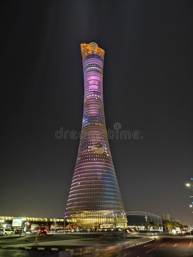 Die Fackel Doha stockfotografie