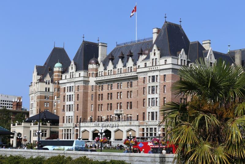 Die Fairmont-Kaiserin-Hotelfassade, Victoria, Kanada stockfotografie