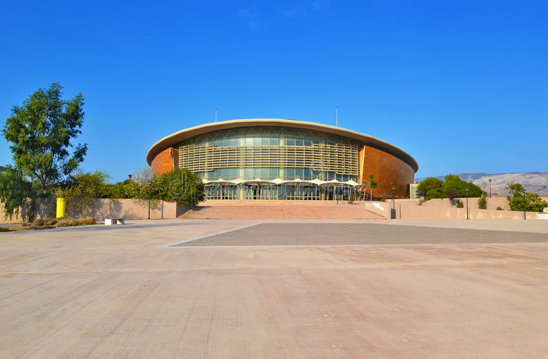 Die Faliro-Sport-Pavillon-Arena - Teil des Küstengebiets-olympischen Komplexes Faliro bekannt als Taekwondo-Stadion Athen Grieche lizenzfreies stockbild