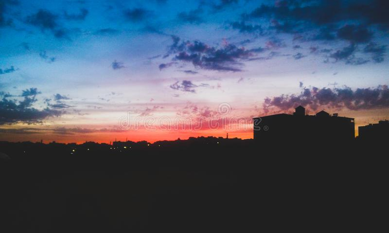 Die Farbe des sky& x27; s stockfotos