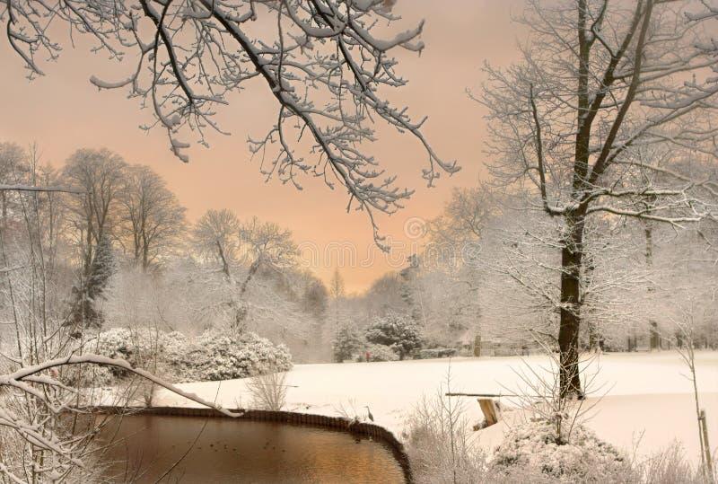 Die Farben des Schnees stockfoto