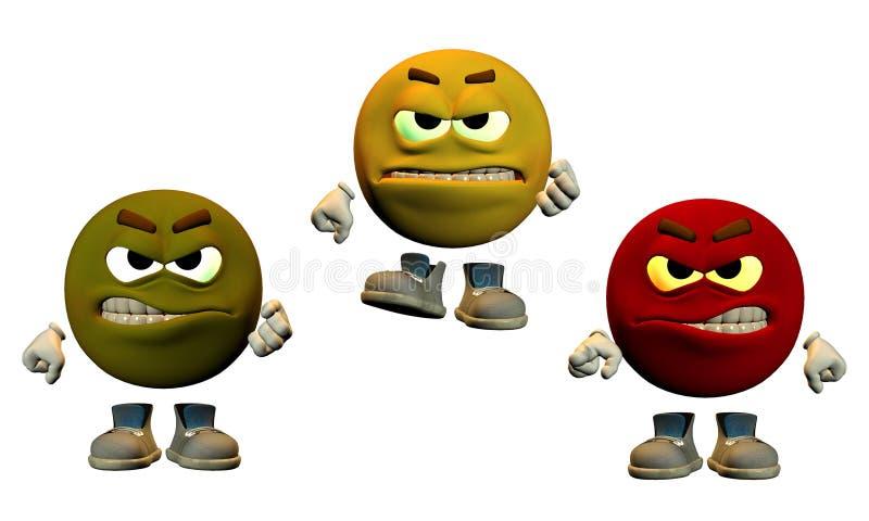 Die Farben des Zornes lizenzfreie abbildung