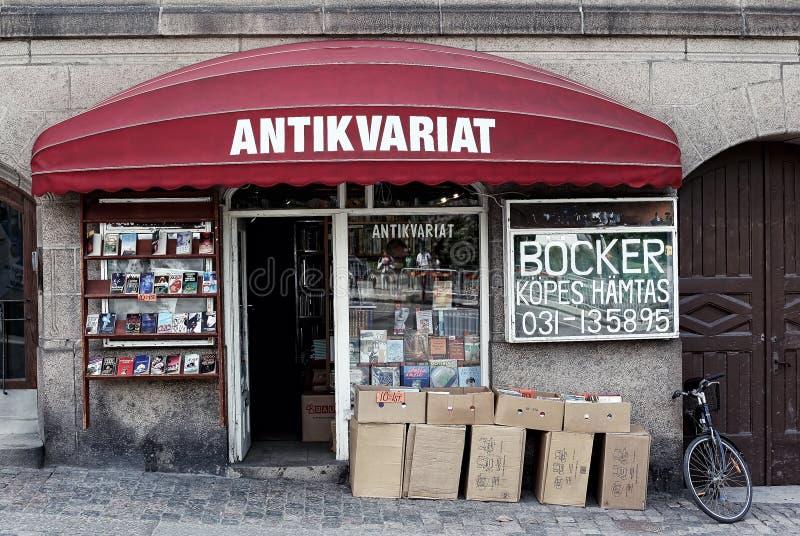 Die Fassade des antiken Speichers in Schweden lizenzfreie stockbilder