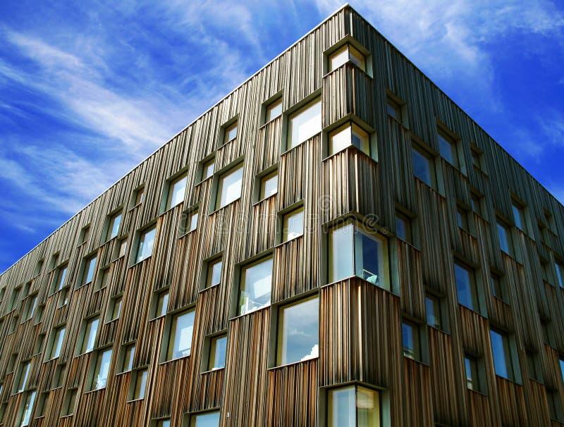 Die Fassade des Architekturcolleges Umea stockfotografie