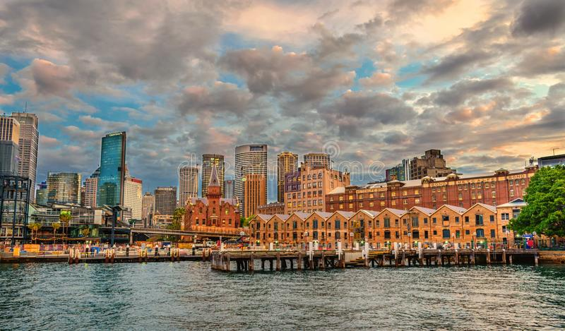 Die Felsen Bezirk, Sydneys Stadtzentrum Sydney, Australien lizenzfreies stockbild