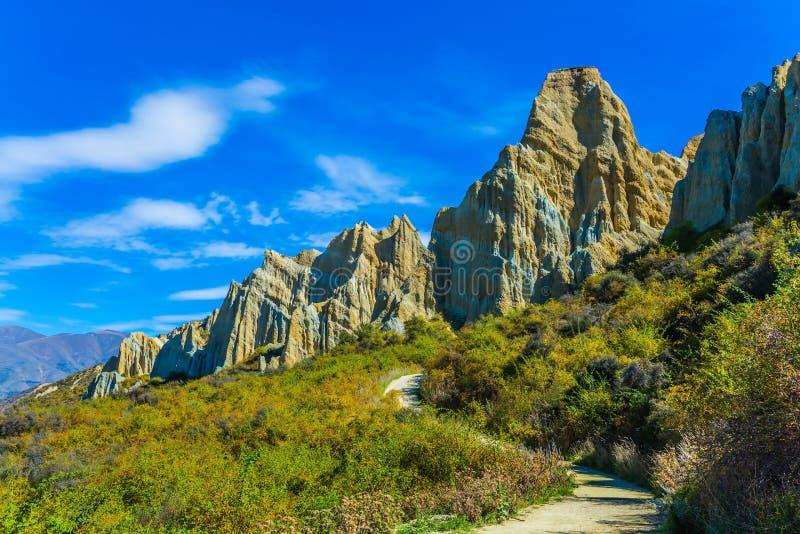 Die Felsen Clay Cliffs stockfotos