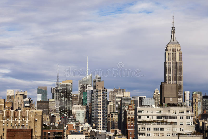 Empire State Building-Midtown Manhattan Skyline New York lizenzfreies stockfoto