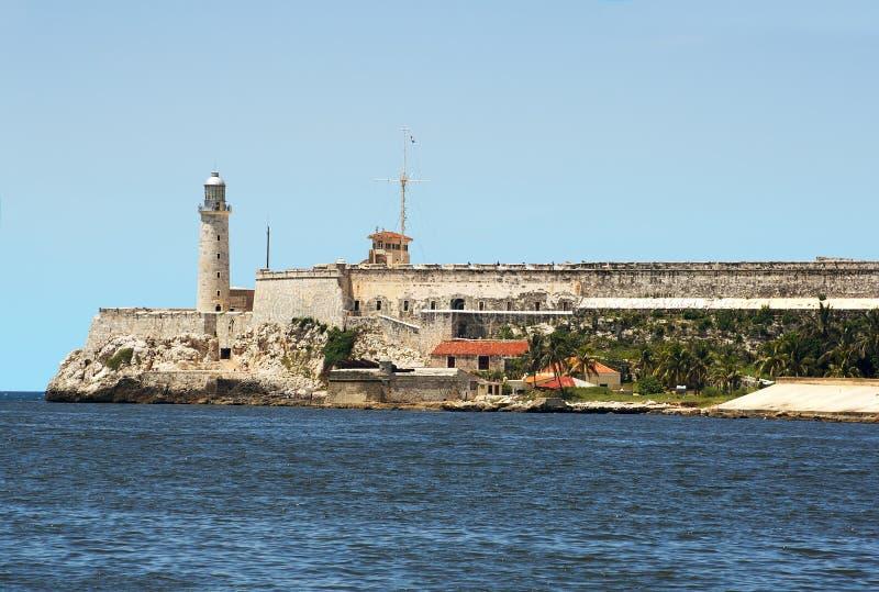 Die Festung von EL Morro im Schacht von Havana stockfoto