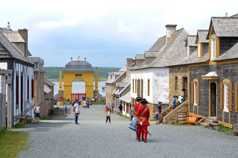 Die Festung von Louisbourg stockfoto