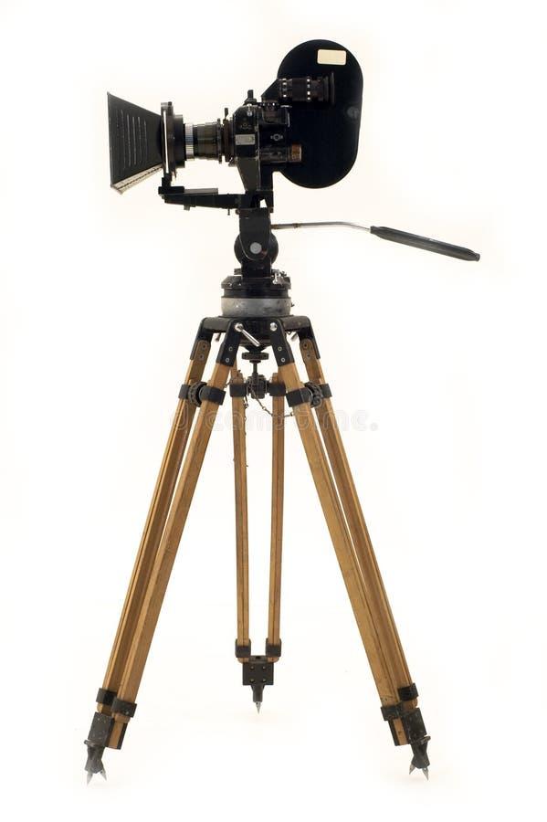Die Filmkamera und -stativ. stockfoto