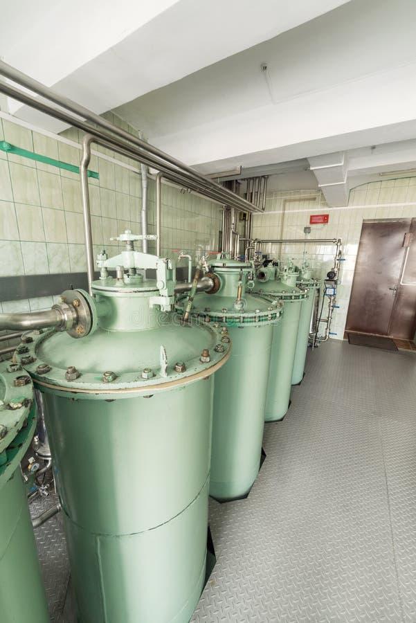 Die Filtrationseinheit, das industrielle Filtrationssystem für Flüssigkeiten stockbilder