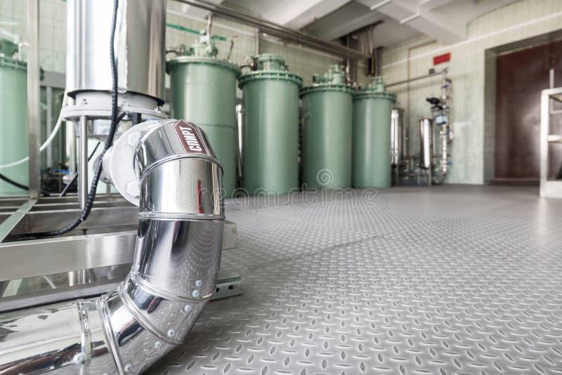 Die Filtrationseinheit, das industrielle Filtrationssystem für Flüssigkeiten lizenzfreies stockbild