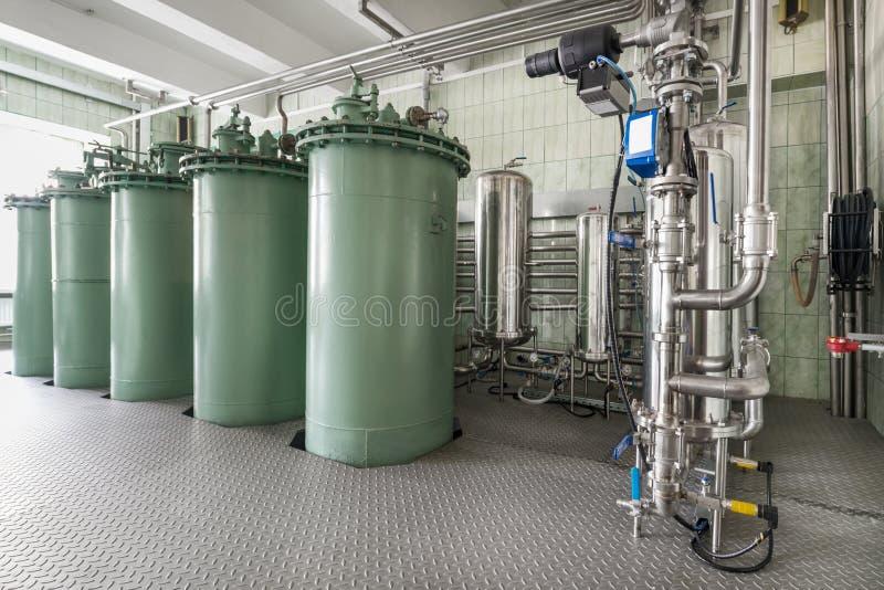 Die Filtrationseinheit, das industrielle Filtrationssystem für Flüssigkeiten stockbild