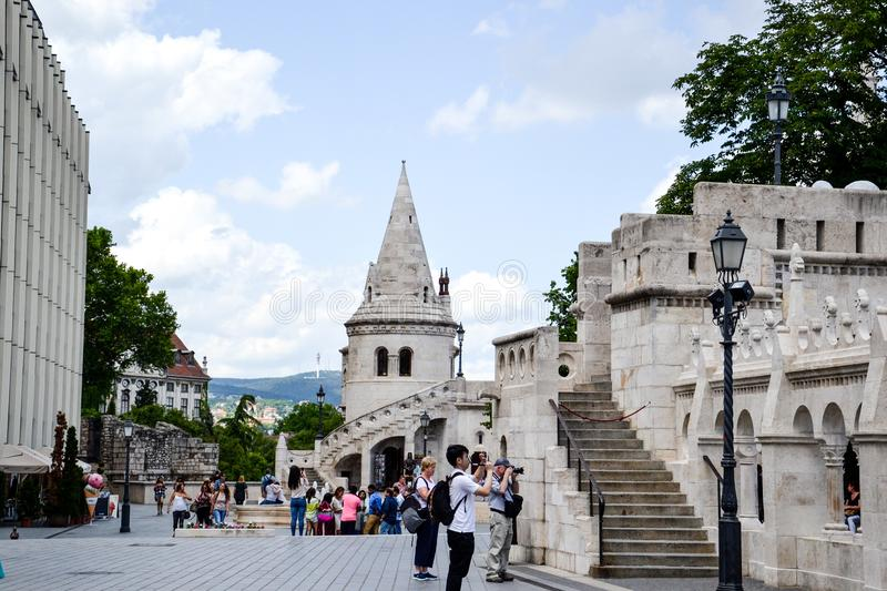 Die Fishermans-Bastion in Budapest, stockbild