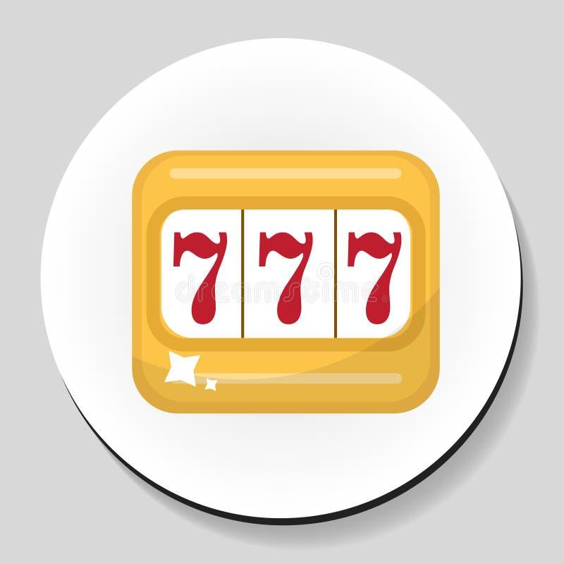 Die flache Art der Spielautomataufkleber-Ikone Auch im corel abgehobenen Betrag vektor abbildung