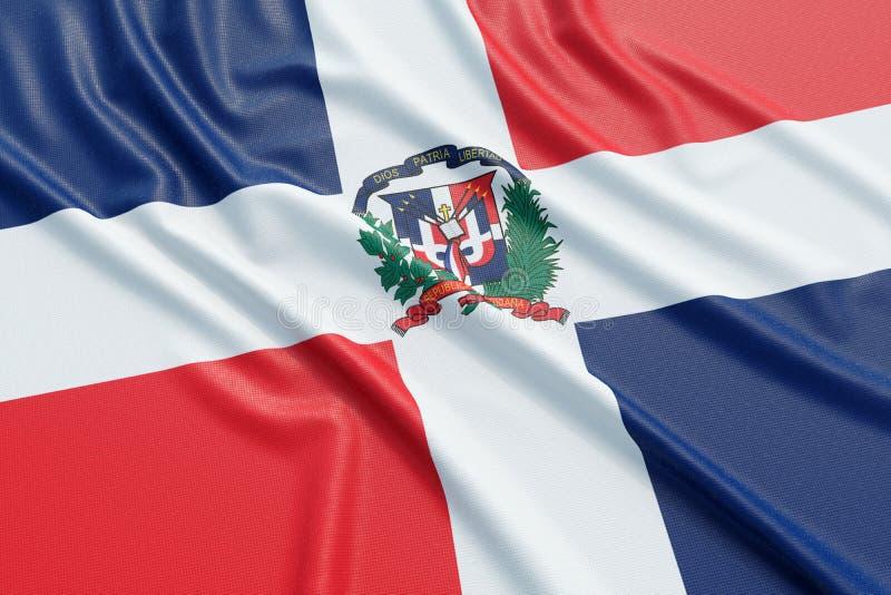 Die Flagge der Dominikanischen Republik lizenzfreie abbildung