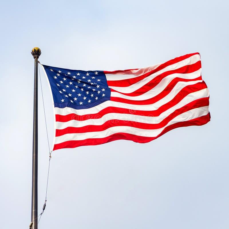 Die Flagge der Vereinigten Staaten von Amerika lizenzfreies stockfoto