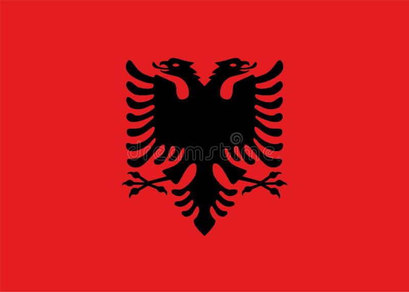 Die Flagge von Albanien lizenzfreie abbildung