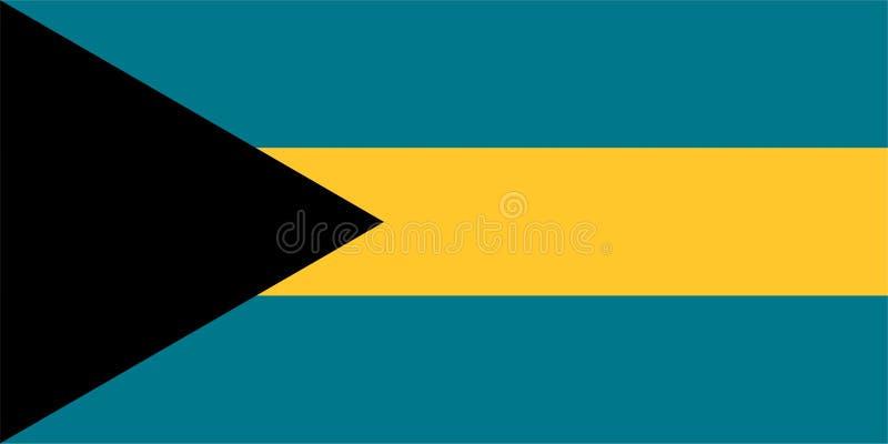 Die Flagge von Bahamas lizenzfreie abbildung