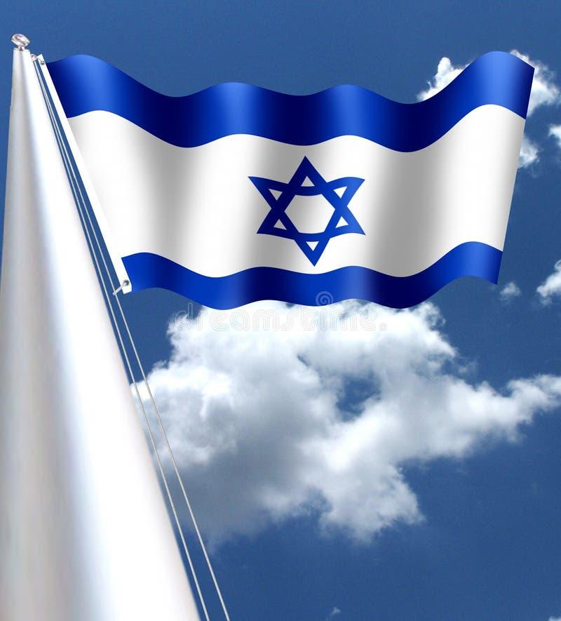 """Die Flagge von Israel auf Hebräisch, × """"× ' ל ×™×©×¨×  ל, ` ` Degel Israel stock abbildung"""