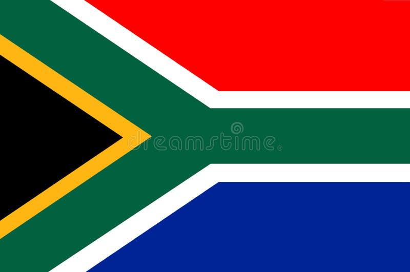 Die Flagge von Südafrika 2 stock abbildung