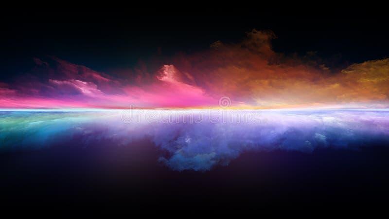Die Flamme des Sonnenuntergangs lizenzfreie abbildung