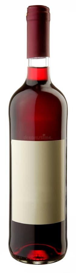 Die Flasche des Rotweins stockfotografie
