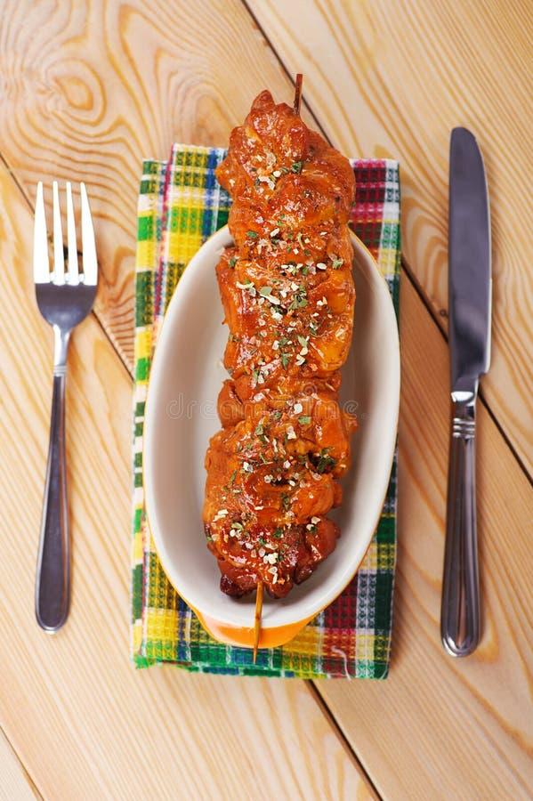 Die Fleisch kebab Aufsteckspindel stockfotografie