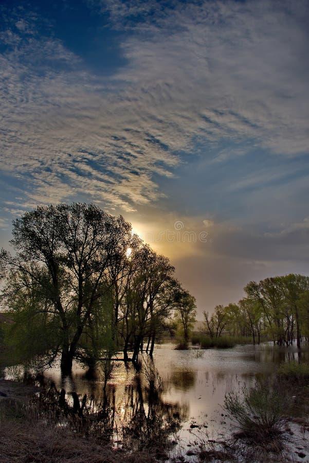 Download Die Flut auf dem Irtysch stockbild. Bild von asien, flut - 106802763