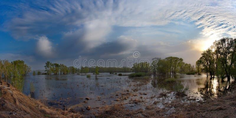 Download Die Flut auf dem Irtysch stockfoto. Bild von busch, fluß - 106802994
