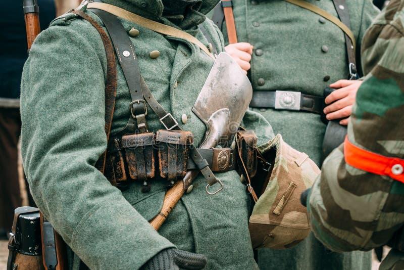 Die Form des deutschen Soldaten des Zweiten Weltkrieges stockfoto