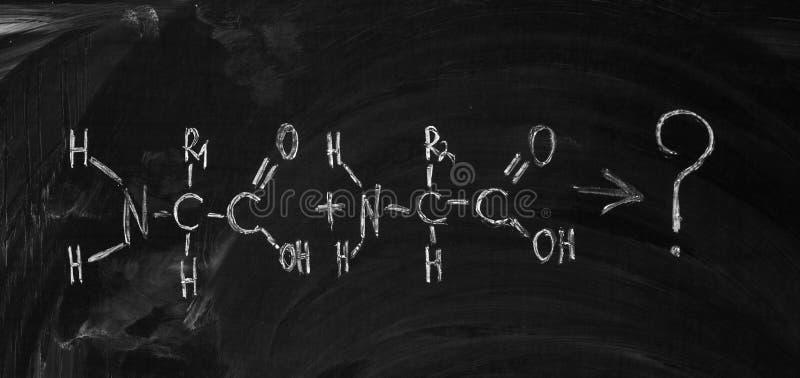 Die Formel der Aminosäure lizenzfreie abbildung