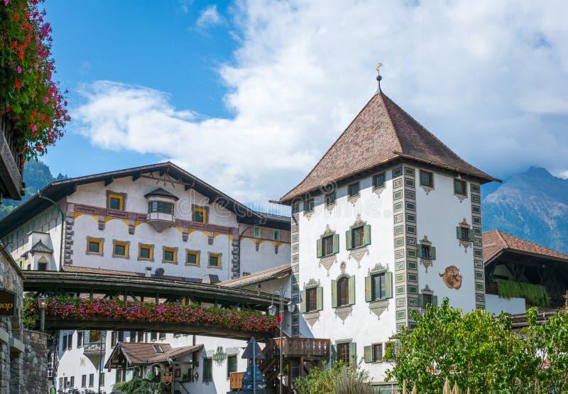 Die Forst-Brauerei, im Jahre 1857 gegründet, bekannt als eine der größten Brauereien im Ganzen von Italien und ist im Wald p lizenzfreie stockbilder
