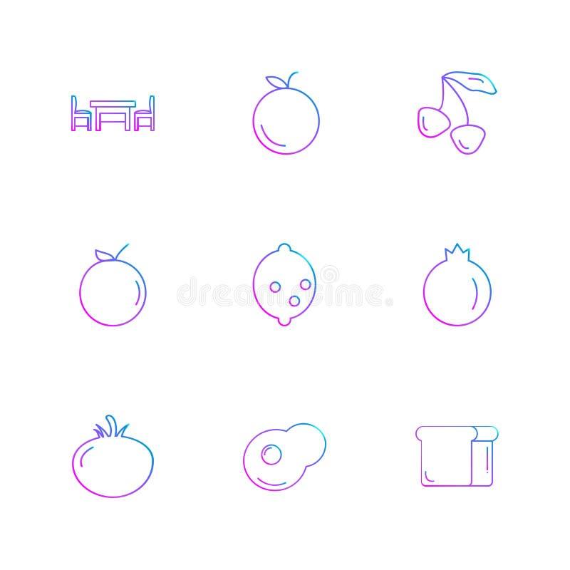 die Früchte, gesund, Gesundheit, Lebensmittel, Eignung, ENV-Ikonen stellten vecto ein vektor abbildung