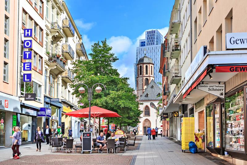 Die Frankfurt-Stadt stockbilder