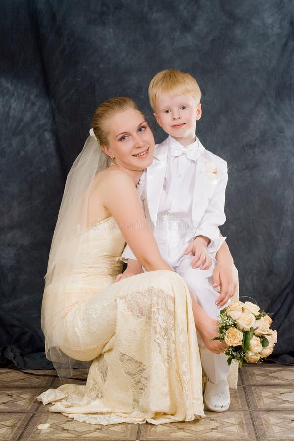 Die Frau und das Kind lizenzfreie stockbilder
