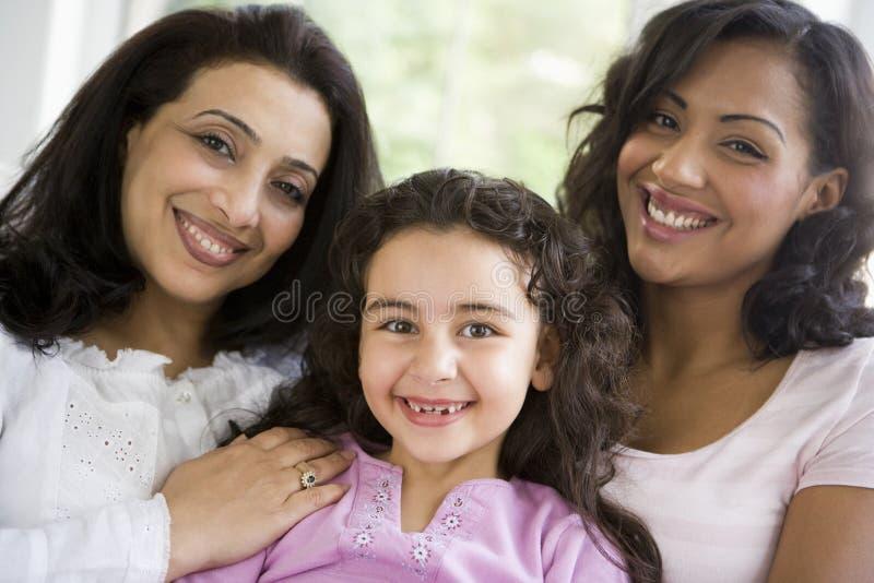 Die Frauen der nahöstlichen Familie lizenzfreie stockfotos