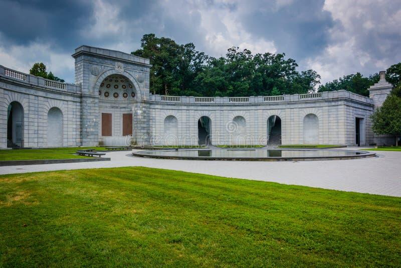 Die Frauen im Militärdienst für Amerika-Denkmal, in Arlington lizenzfreies stockfoto