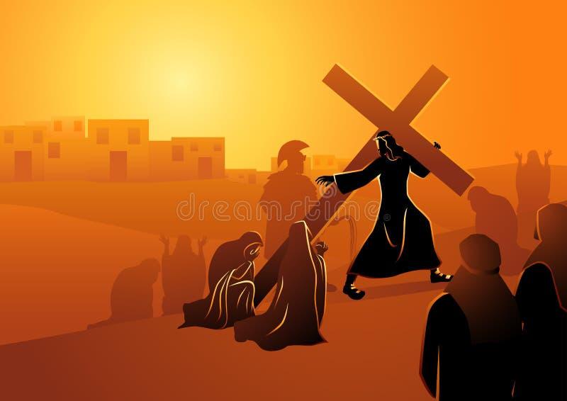 Die Frauen von Jerusalem beklagen für Jesus lizenzfreie abbildung