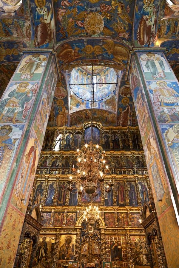 Die Freskos in der Kirche von Elija der Prophet in Yaroslavl lizenzfreie stockfotos