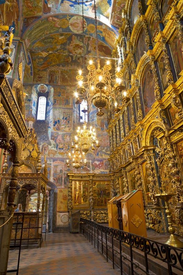 Die Freskos in der Kirche von Elija der Prophet in Yaroslavl lizenzfreie stockbilder