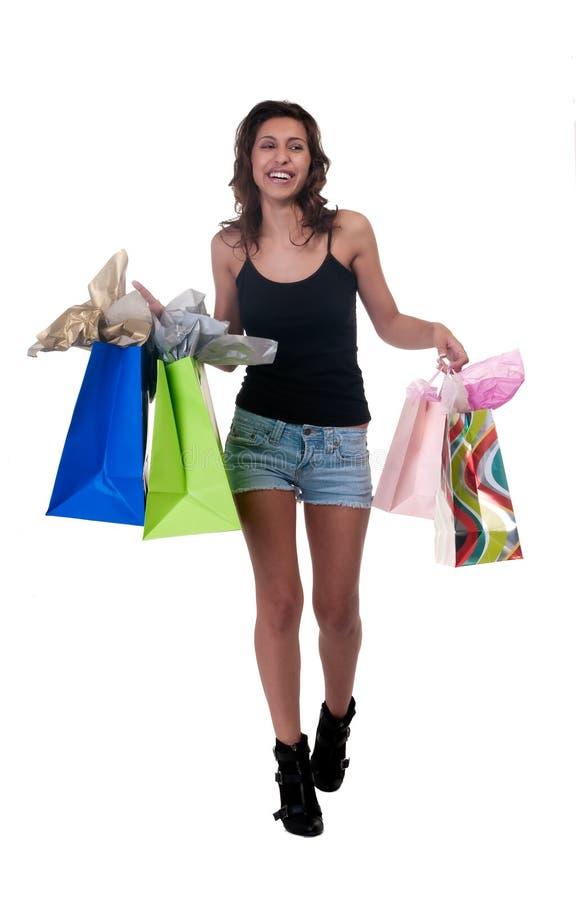 Die Freude am Einkaufen lizenzfreie stockbilder