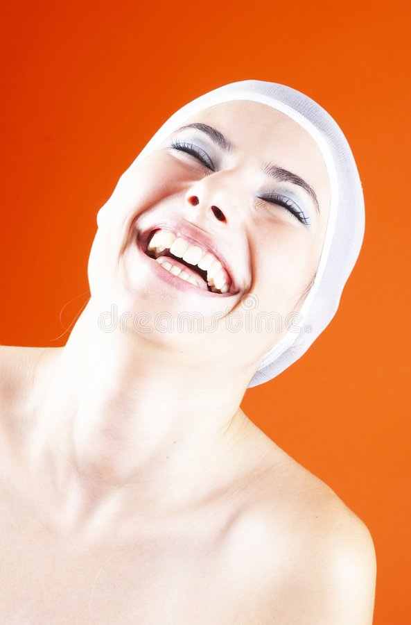 Die Freude am Gelächter stockbild