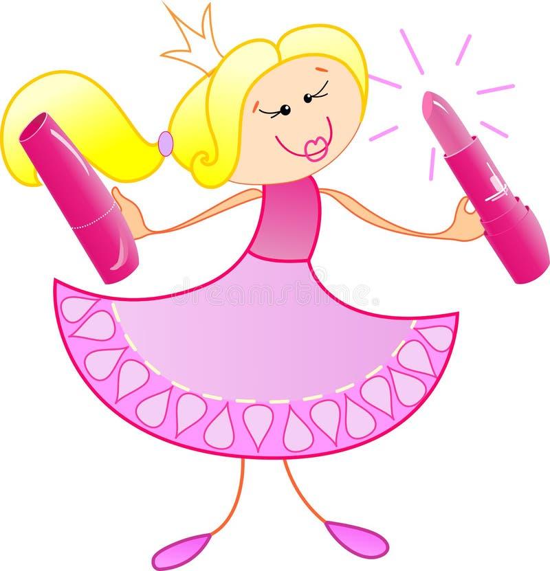 Download Die freundliche Prinzessin vektor abbildung. Illustration von lippe - 26359399