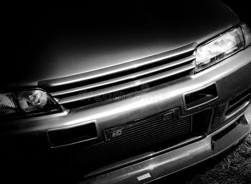 Die Front eines japanischen Sportautos lizenzfreie stockfotografie