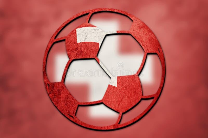 Die Fußball-nationale Schweiz-Flagge Schweizer Fußballball lizenzfreie stockfotos