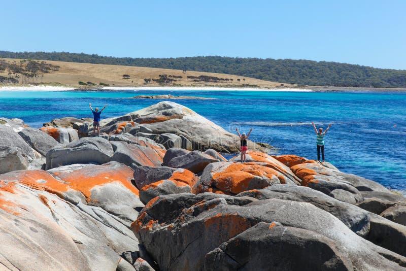 Die Gärten - Bucht von Feuern - Tasmanien lizenzfreies stockfoto