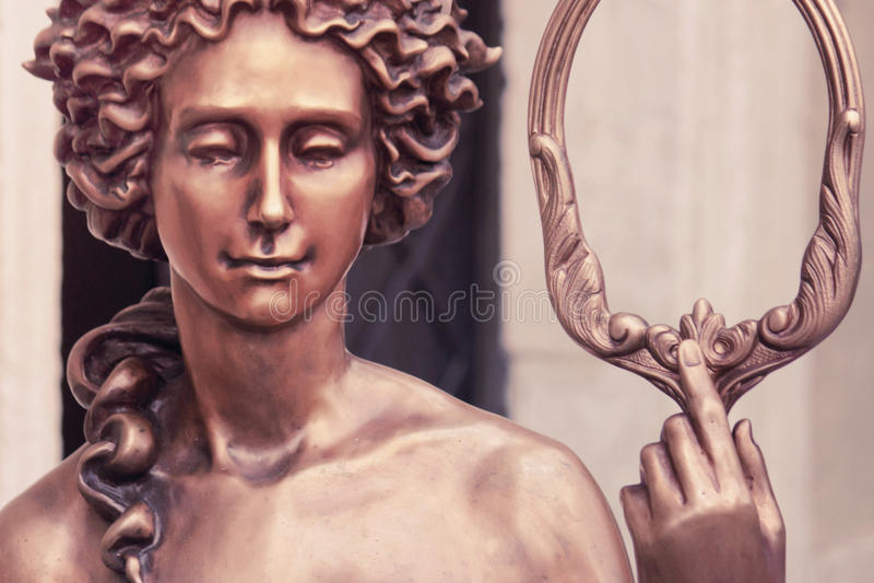Die Göttin von Liebe Aphrodite (Venus, angeredete Weinlese) stockbilder