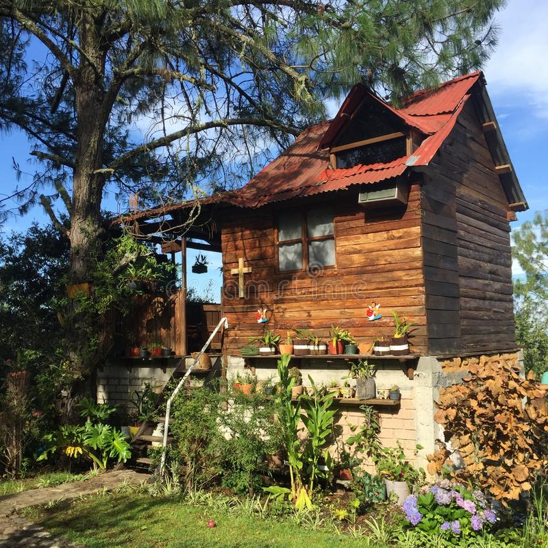 Die Garten-Kabine von Capulalpam de Mendez lizenzfreies stockbild