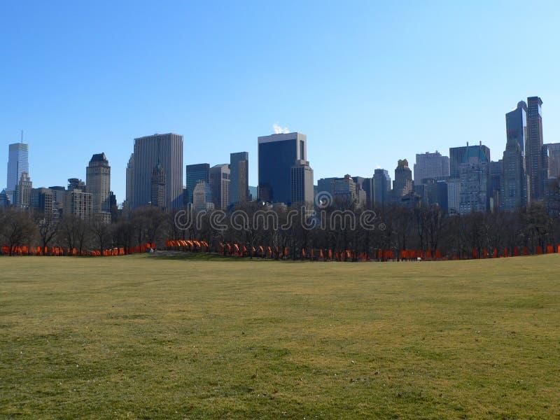 Die Gatter in Central Park lizenzfreies stockbild